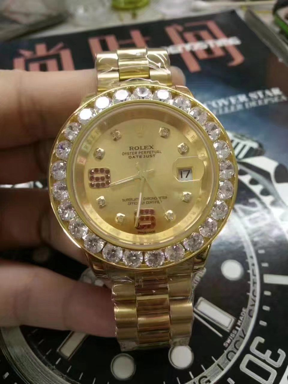 Rolex Datejust II Big diamond Automatic Mechanical Watch Gender   Mens  Size  44mm Movement   c93256d6c3