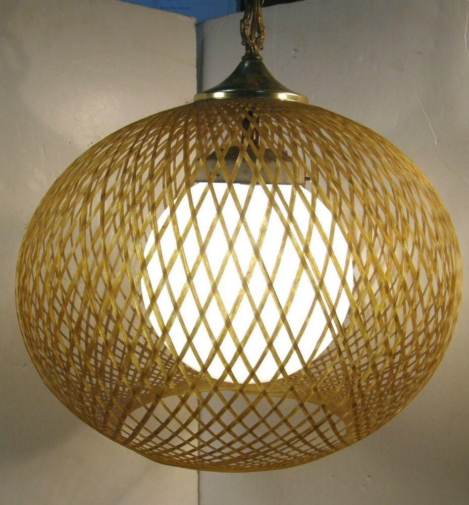Details About Vintage Mid Century Modern Teardrop Glass Hanging