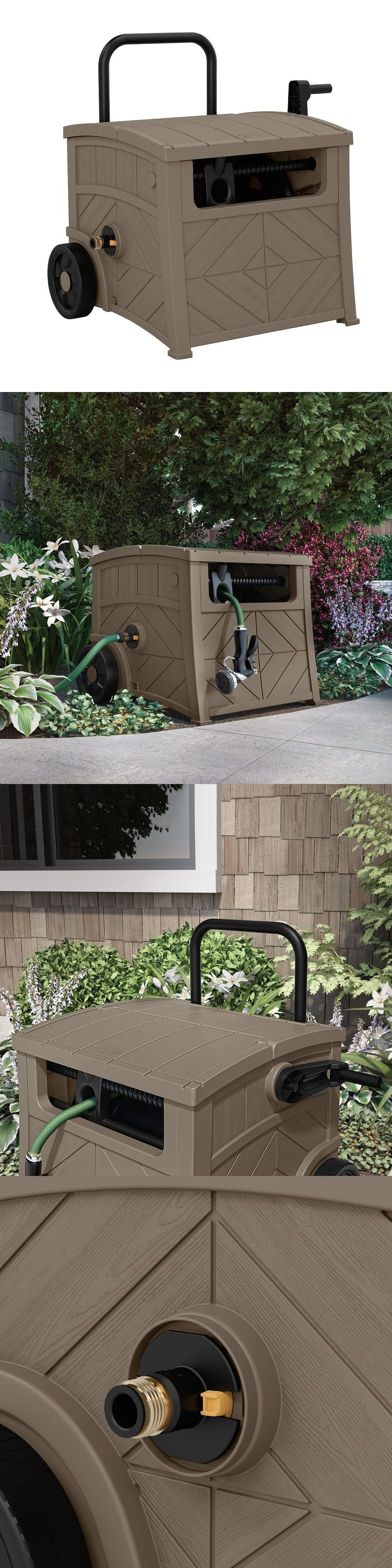 Details about Garden Water Leader Hose Reel Storage Box