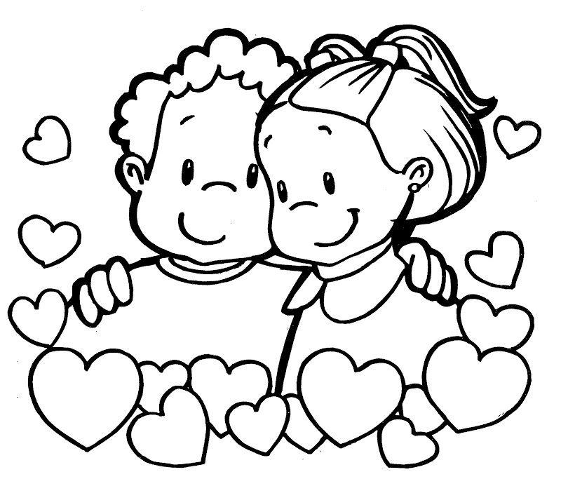Imagenes Del Dia Del Amor Y La Amistad Para Colorear Amor