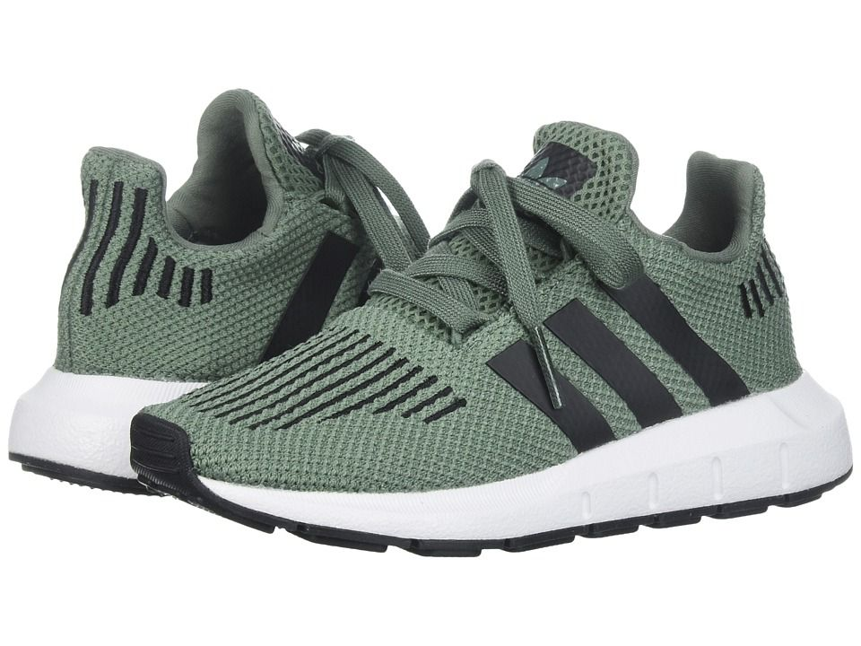 024d5a044 adidas Originals Kids Swift Run (Little Kid) Boys Shoes Trace  Green Black White