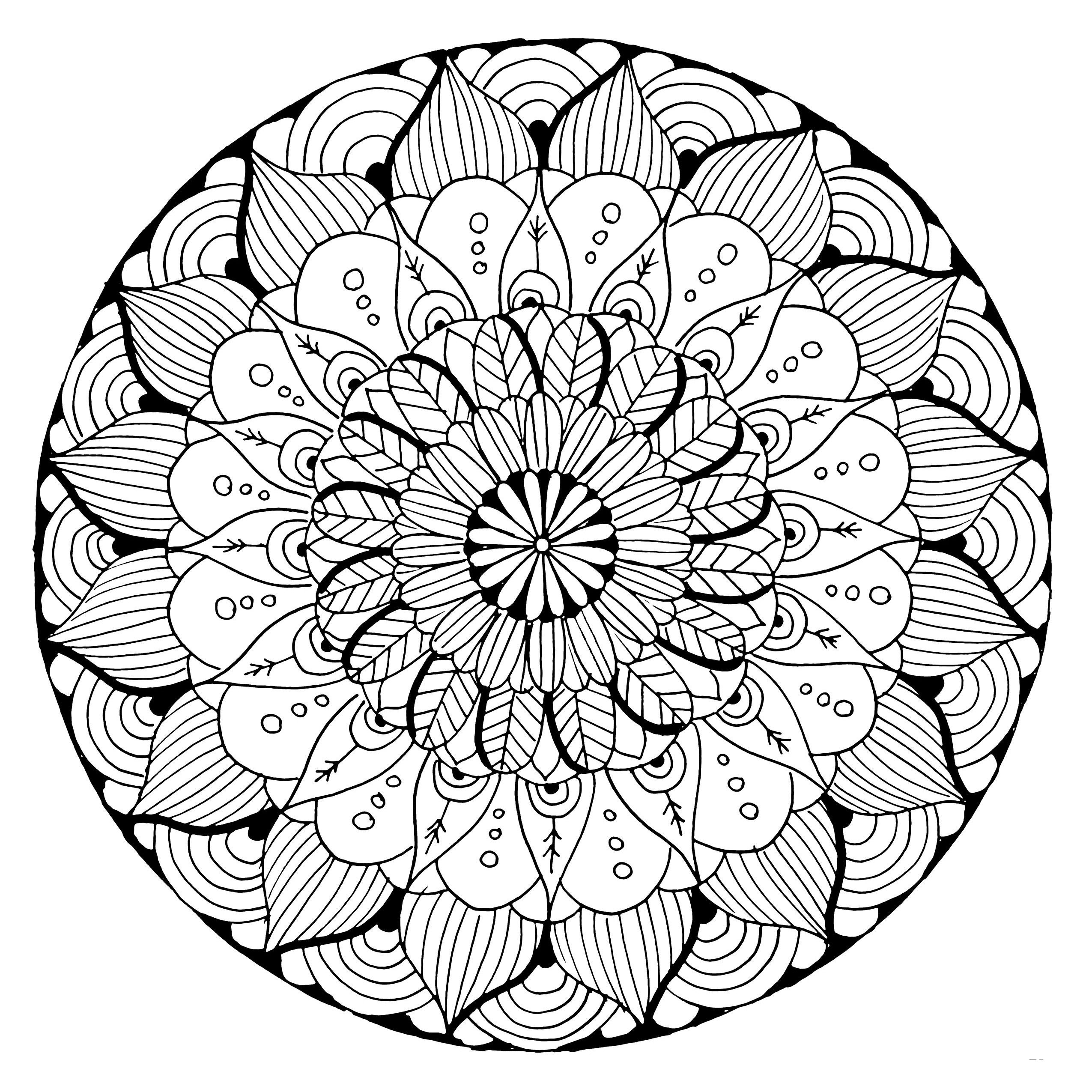 Blume - Mandalas - Malvorlagen Mandala