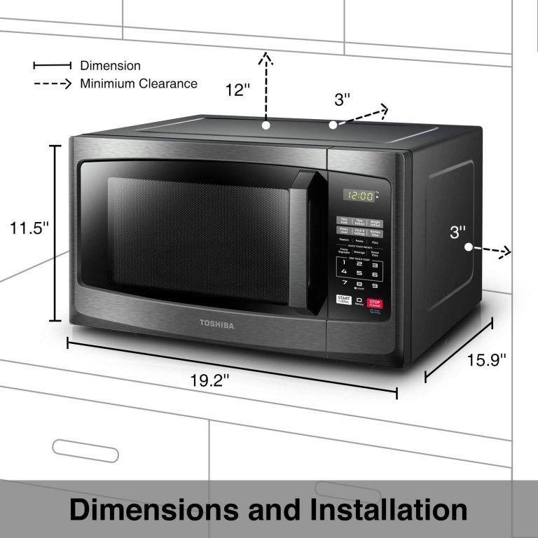 Toshiba Em925a5a Bs Microwave Oven With Sound On Off Eco Mode And Led Lighting 0 Microwave Convection Oven Stainless Steel Microwave Countertop Microwave Oven