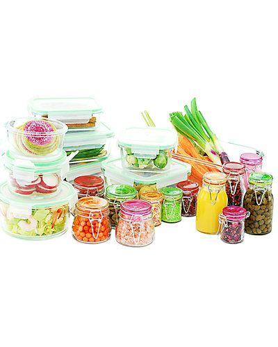 Rue La La Kinetic Go Green Glassworks Series 30pc Set Glass Food