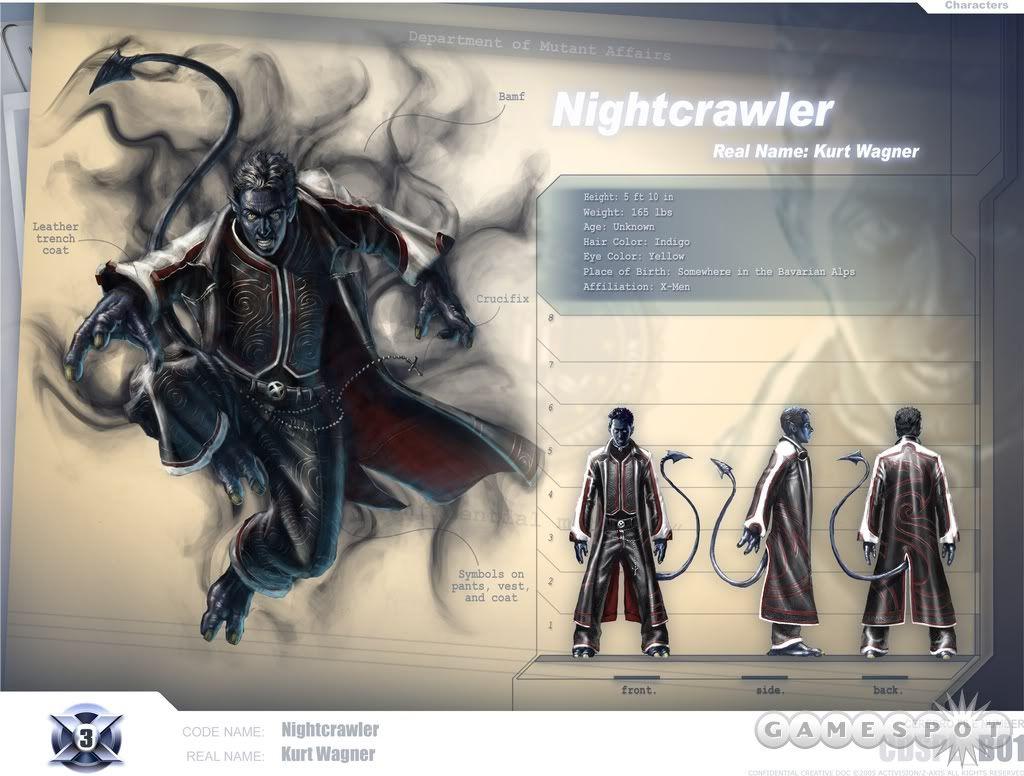 Character Model Nightcrawler From X Men Game Nightcrawler X Men Man Games