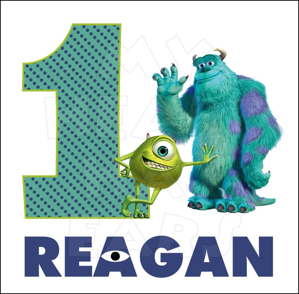 Monsters Inc. Birthday ANY NAME AND NUMBER PERSONALIZED digital ...