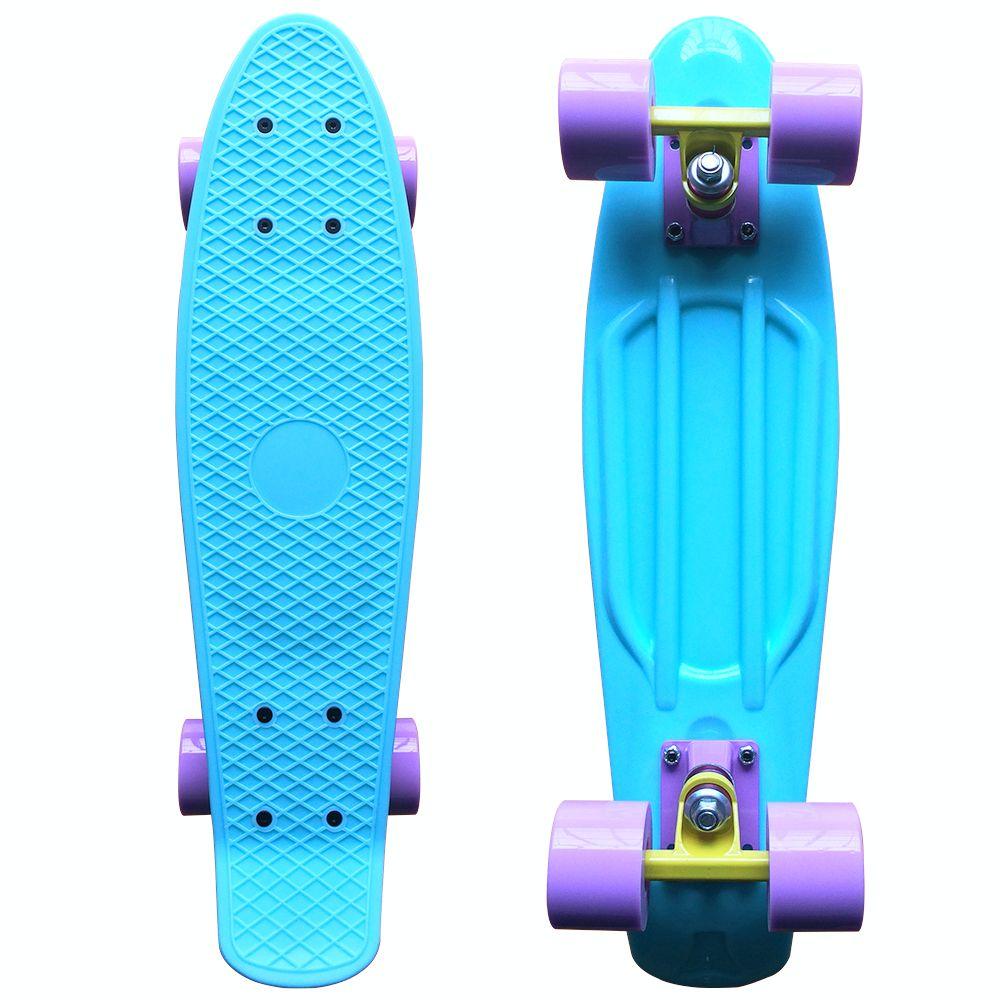 LMAI 27/'/' Cruiser Skateboard Graphic Black Plastic Skateboard Retro Non Penny