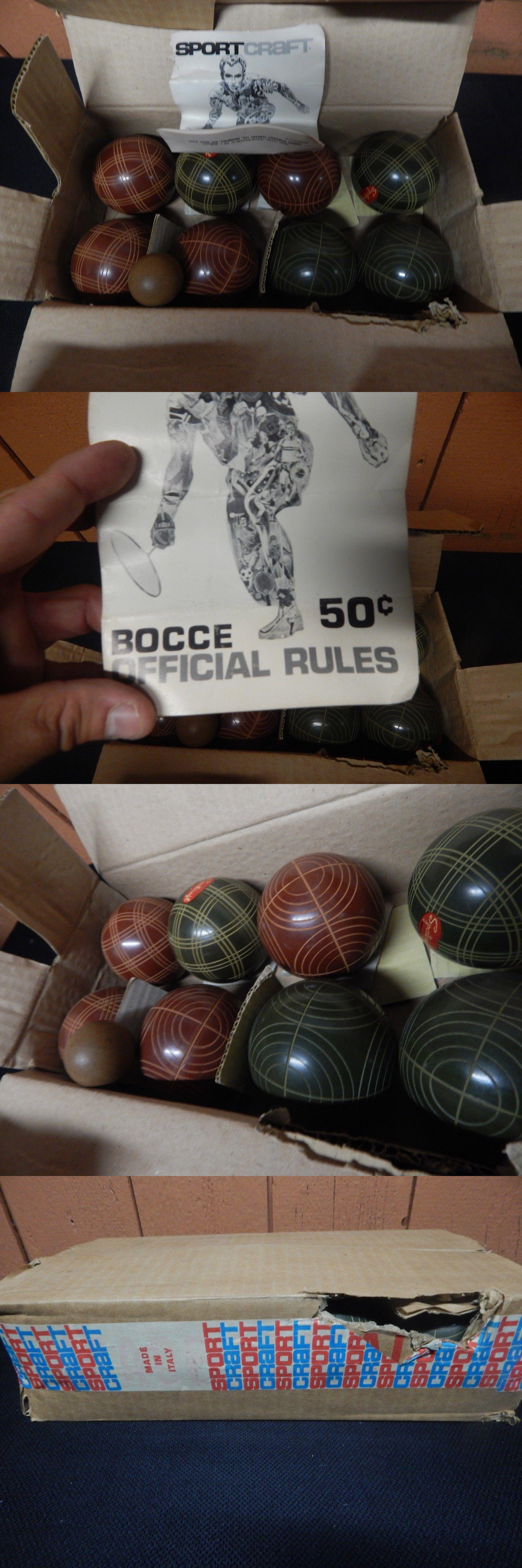 bocce ball 79788 vintage sportcraft italian italy bocce ball set