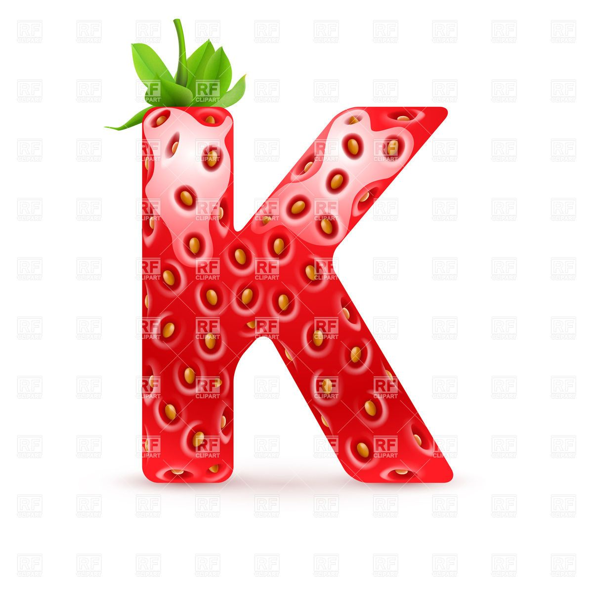 letter k font name in different fonts strawberry patch strawberry tea free [ 1200 x 1200 Pixel ]