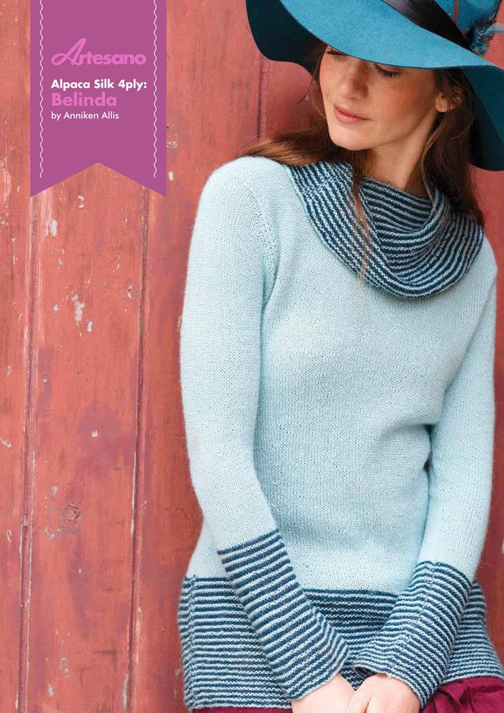 Belinda in Artesano Alpaca Silk 4 Ply | Knitting Patterns ...