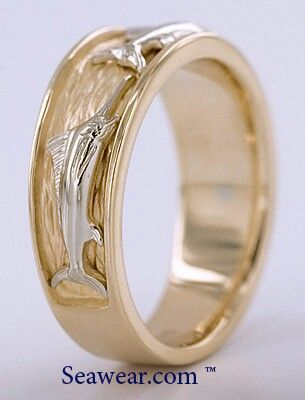 Explore Men Wedding Bands Two Toneore Marlin Ring