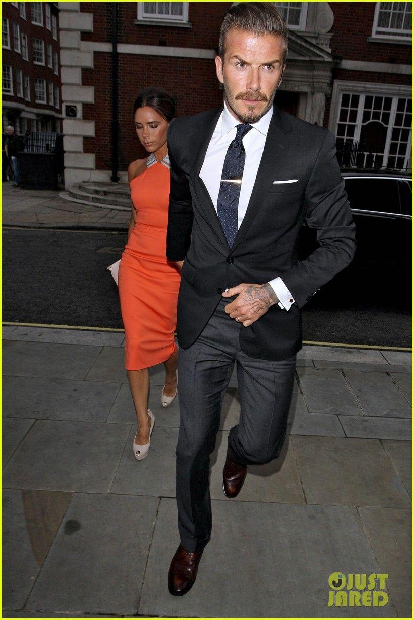 Black Jacket Dark Gray Pants Dark Red Brown Shoes And Navy Blue Tie When It Comes To Fashion David Beckh David Beckham Suit Black Blazer Men Beckham Suit