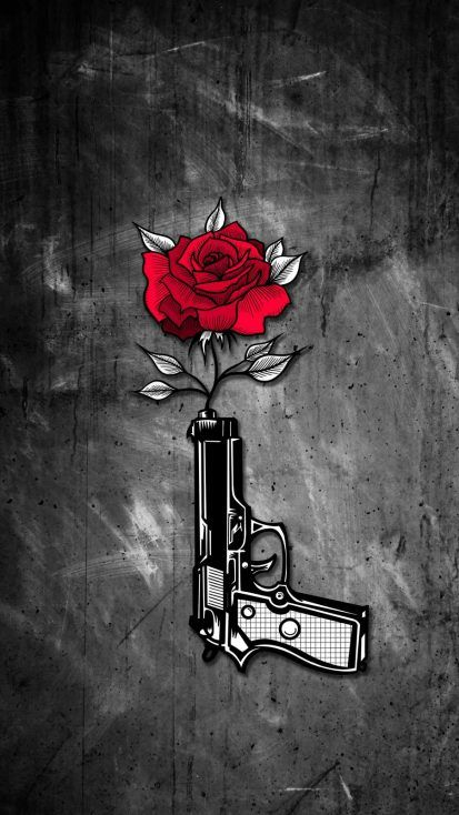 Gun Rose iPhone Wallpaper - iPhone Wallpapers