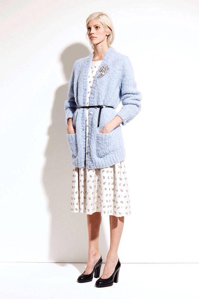 Cardigan and midi dress