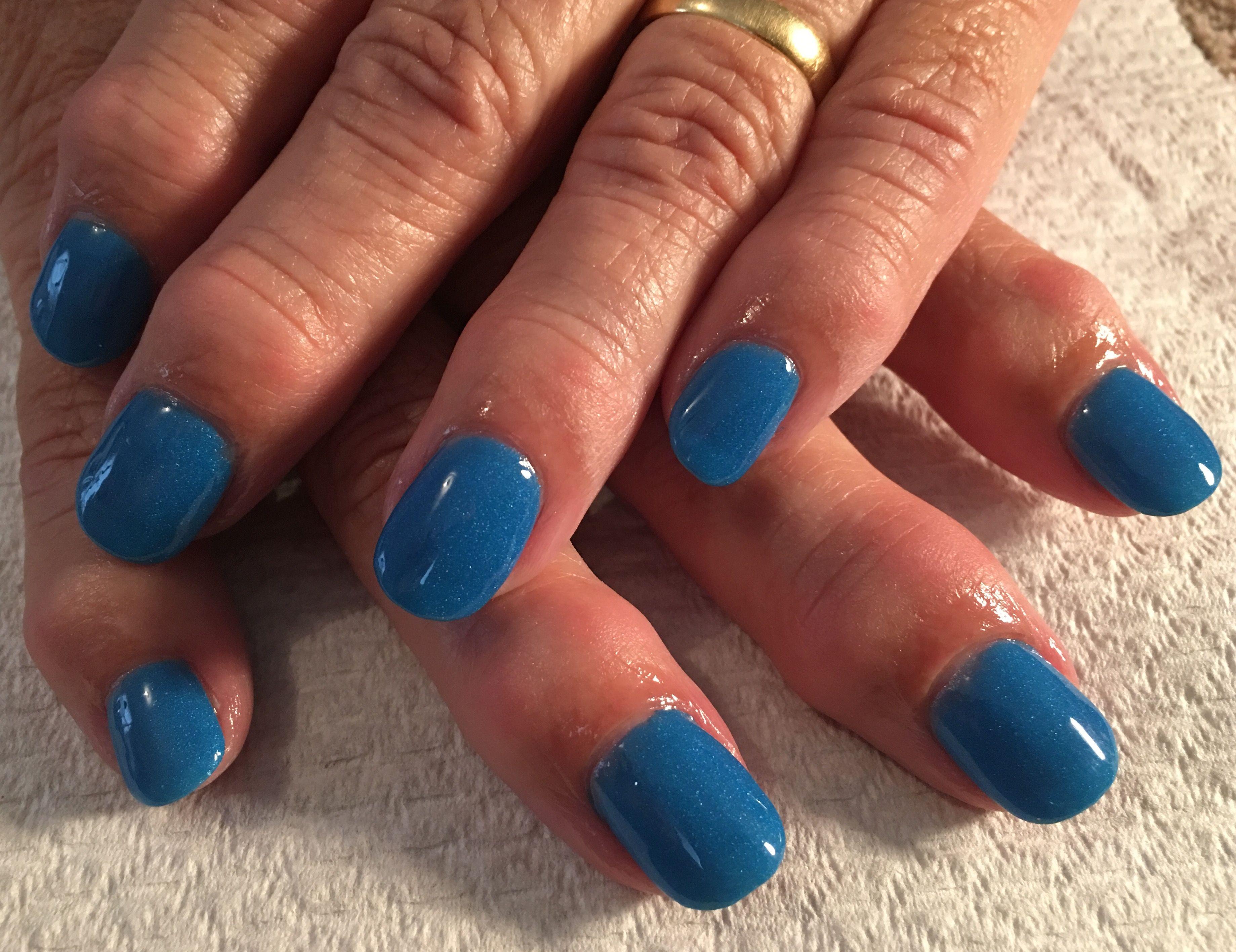 Beautiful shade of blue SNS over natural nail. | Nails | Pinterest ...