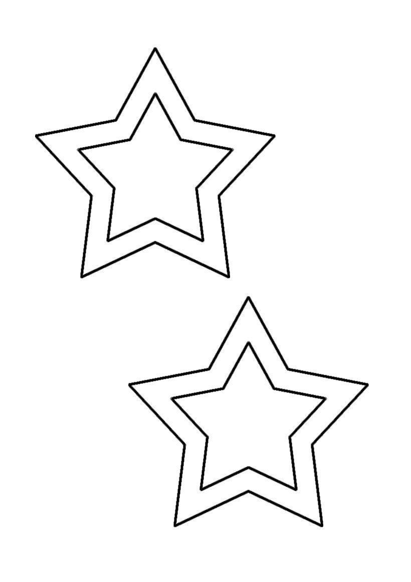 GABARIT-ETOILES | Etoile a imprimer, Gabarit étoile ...