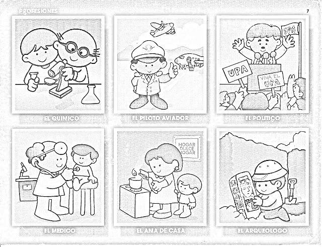 servicios públicos Colouring Pages | clase | Pinterest | Profesiones ...