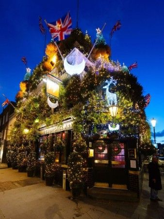 And The Worst Christmas House Is Come On Great Britain You Re Better Than This Technically Not A House But A Pub This Is Christmas Tress London Christmas Christmas Home