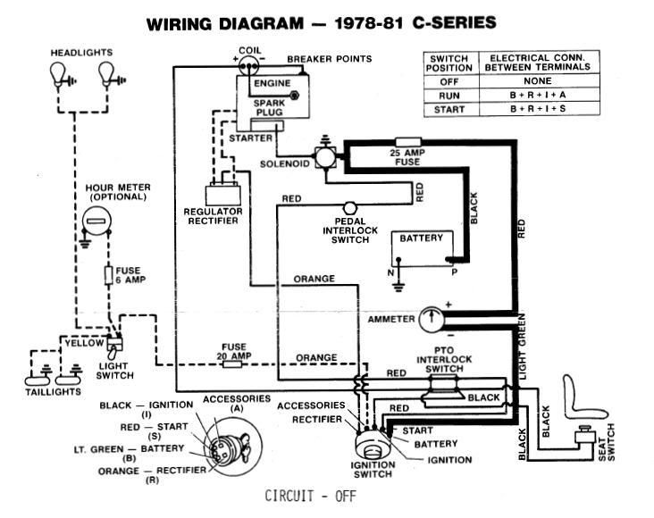 wiring for old wheel horse  the green industry's resource