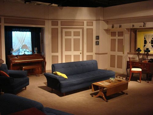 A Rare Color Photograph Of The Second Apartment Set Which Was Filmed In Black And White