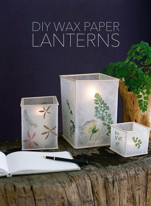 DIY Wax Paper Lantern Project | All Too Lovely