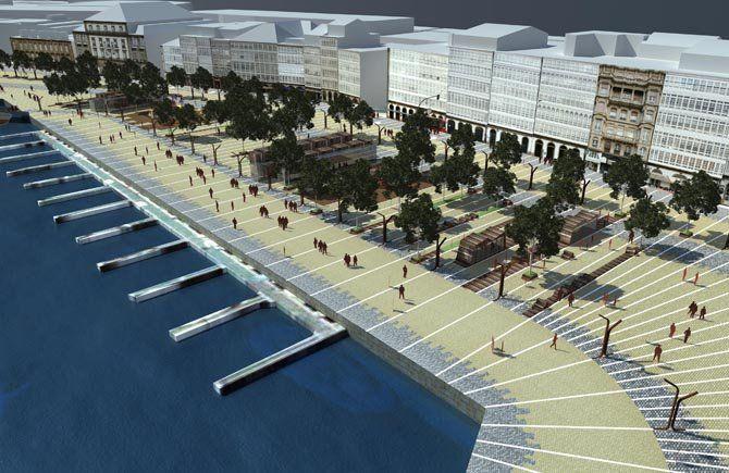 La Galería De La Marina Coruñesa Prepara Su Nueva Fachada Bañada Por El Mar Galerías Marina Fotos Antiguas