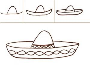 how to draw a sombrero step by step