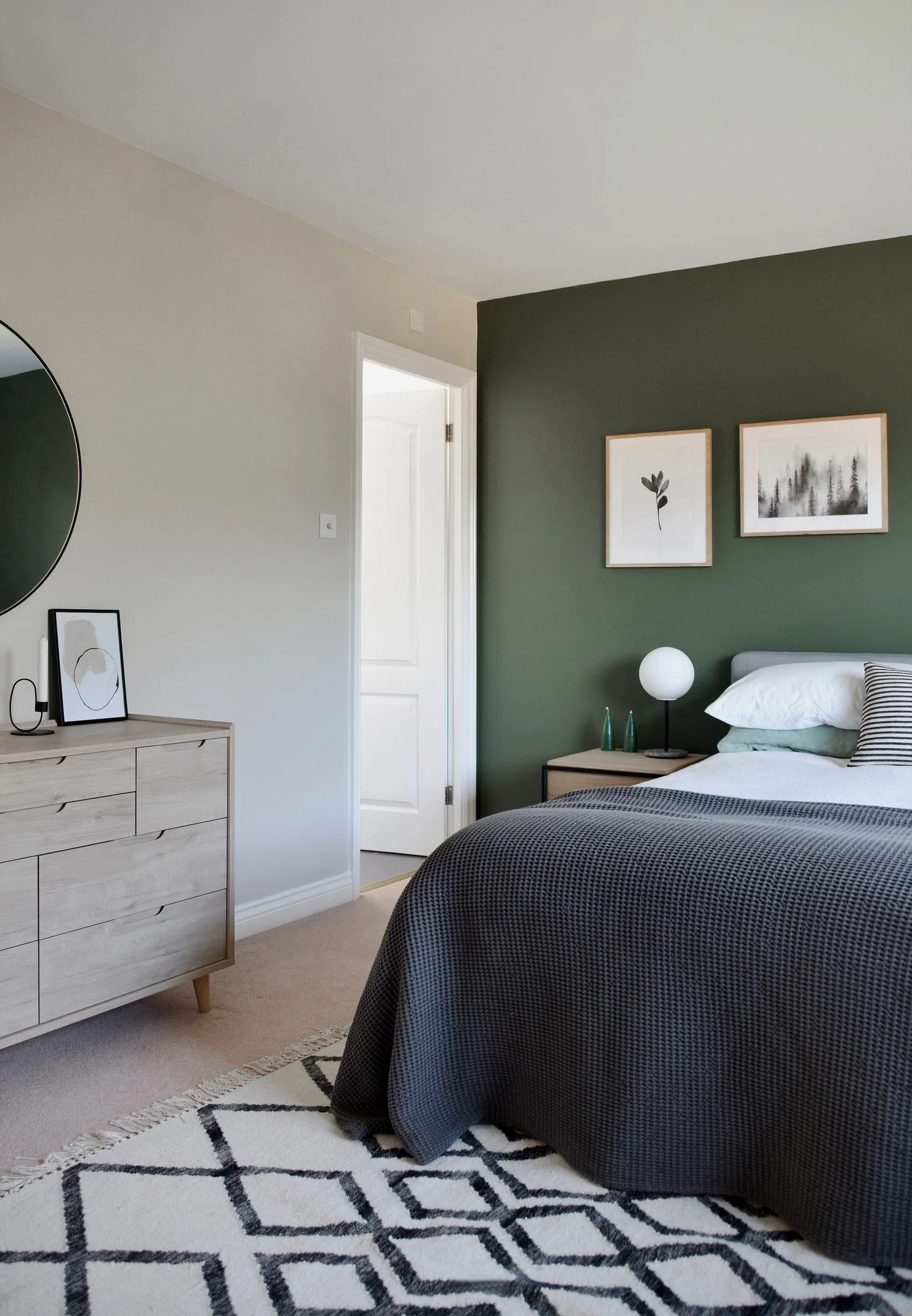 Design Project A Restful Green Bedroom These Four Walls Bedroom Green Green Bedroom Walls Green Master Bedroom