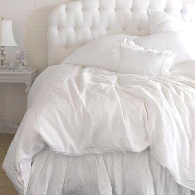 adore crisp white fluffy bedding Home Decor Pinterest Tufted