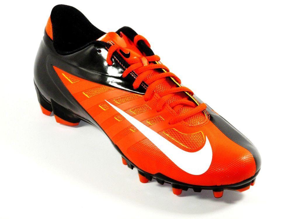 New Mens Nike Vapor Pro TD Low Molded Football/Lacrosse Cleats Size 12  Orange