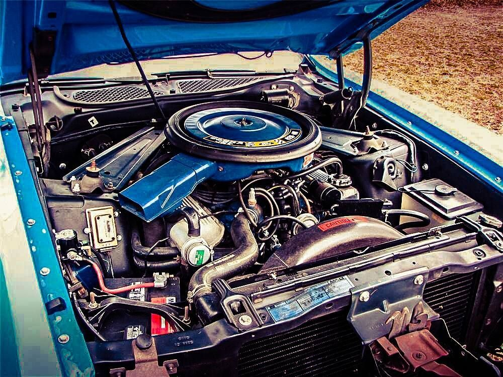 Classic 1971 Mustang Mach1 Fastback S V8 Engine Block Engine Bay Engine Block Mustang Engine Mustang Ford Mustang