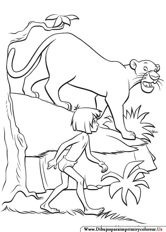 Dibujos de El libro de la Selva para Imprimir y colorear | Coloring ...