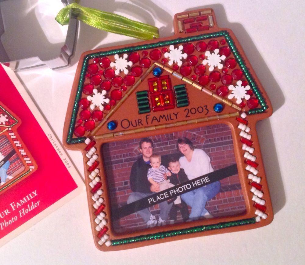 Hallmark Keepsake Ornament Family Photo Holder House Cookie Cutter 2003 With Box