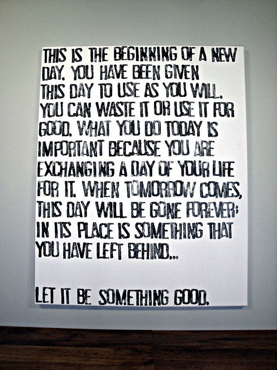 Today is the Beginning of a New Day  Quote on by CantonBoxCompany, $60.00