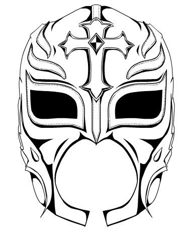 rey mysterio mask coloring Ideas Pinterest Masking Wwe