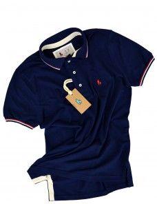 44b9e8711a Camisa polo Masculina cor Azul Marinho