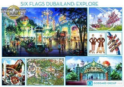 Six Flags Dubailand Six Flags Flag Painting