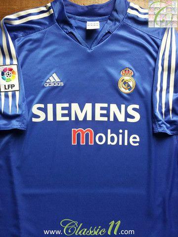 17460ccf7cd Relive Real Madrid s 2004 2005 La Liga season with this vintage Adidas 3rd  kit football shirt.