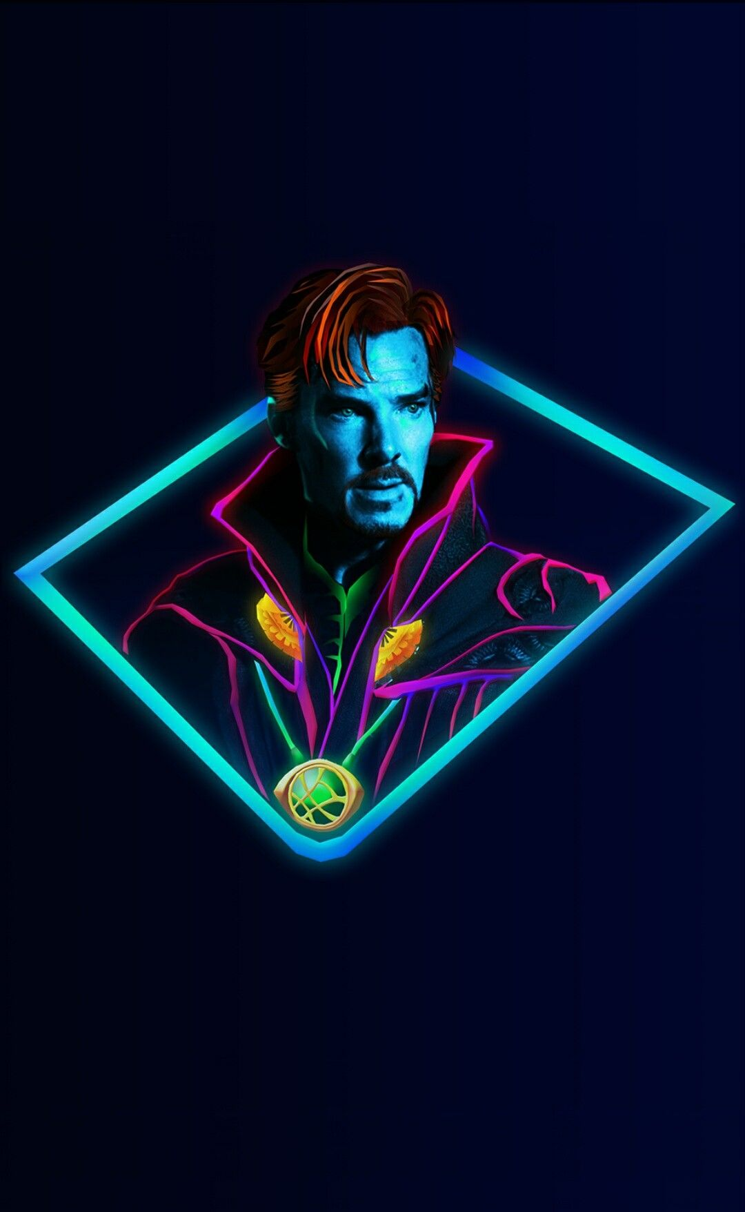 Doctor Strange Marvel Neon Wallpaper Avenger Marvel Wallpaper