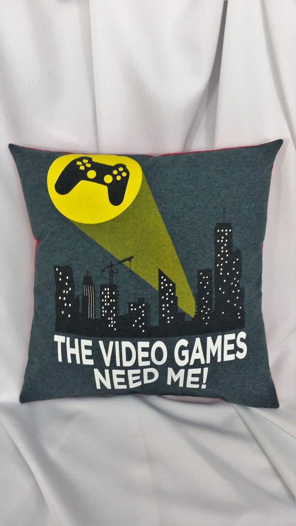 Video game pillow cover with \