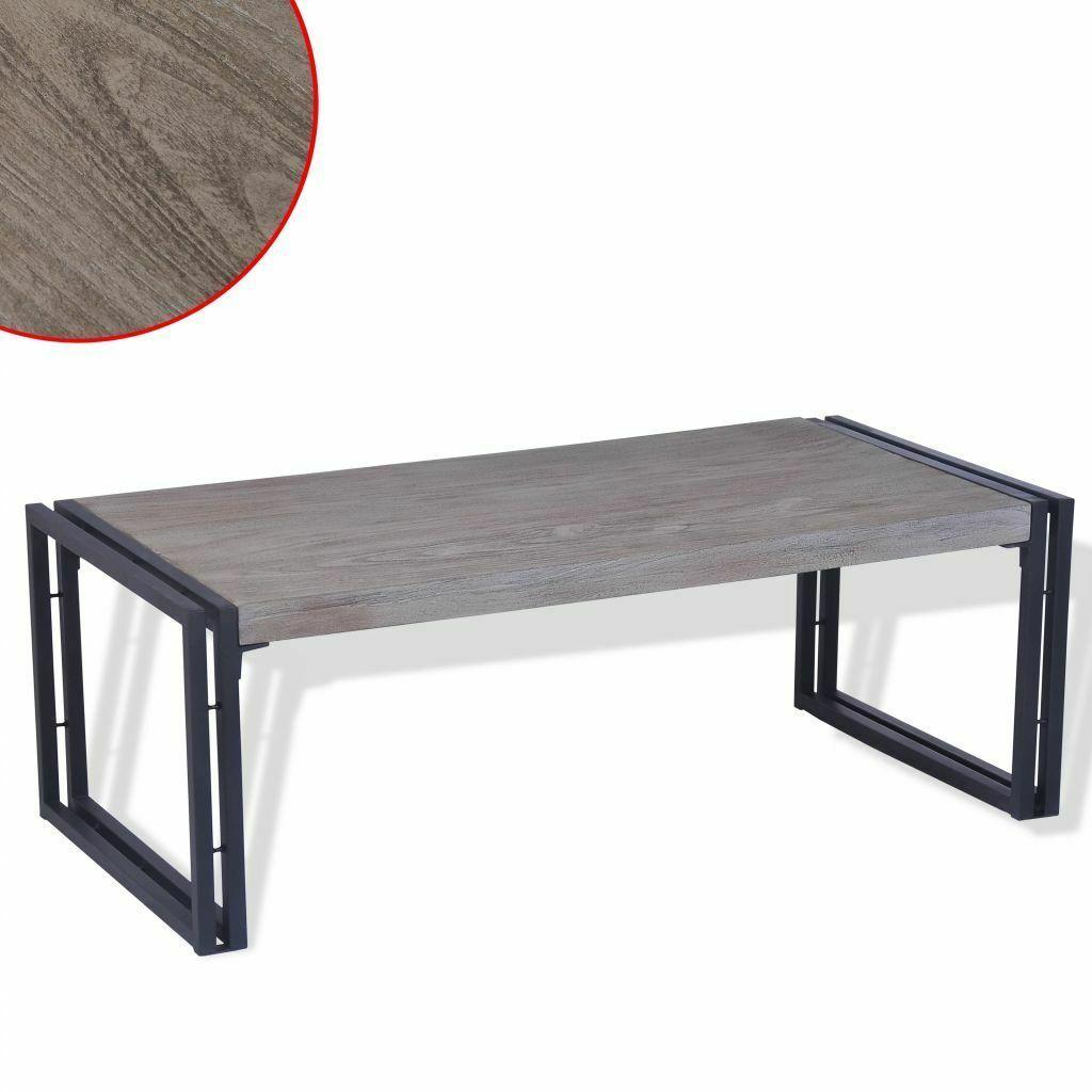 Vidaxl Table Basse En Bois De Teck Table D Appoint Grise Pour Le