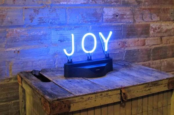 Neon Letters Huis : Joy one of our favorite words in neon light live with joy