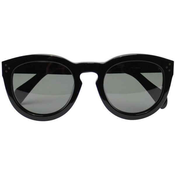Céline Preppy sunglasses (14.835 UYU) ❤ liked on Polyvore featuring accessories, eyewear, sunglasses, glasses, black, preppy glasses, acetate glasses, celine eyewear, preppy sunglasses and acetate sunglasses