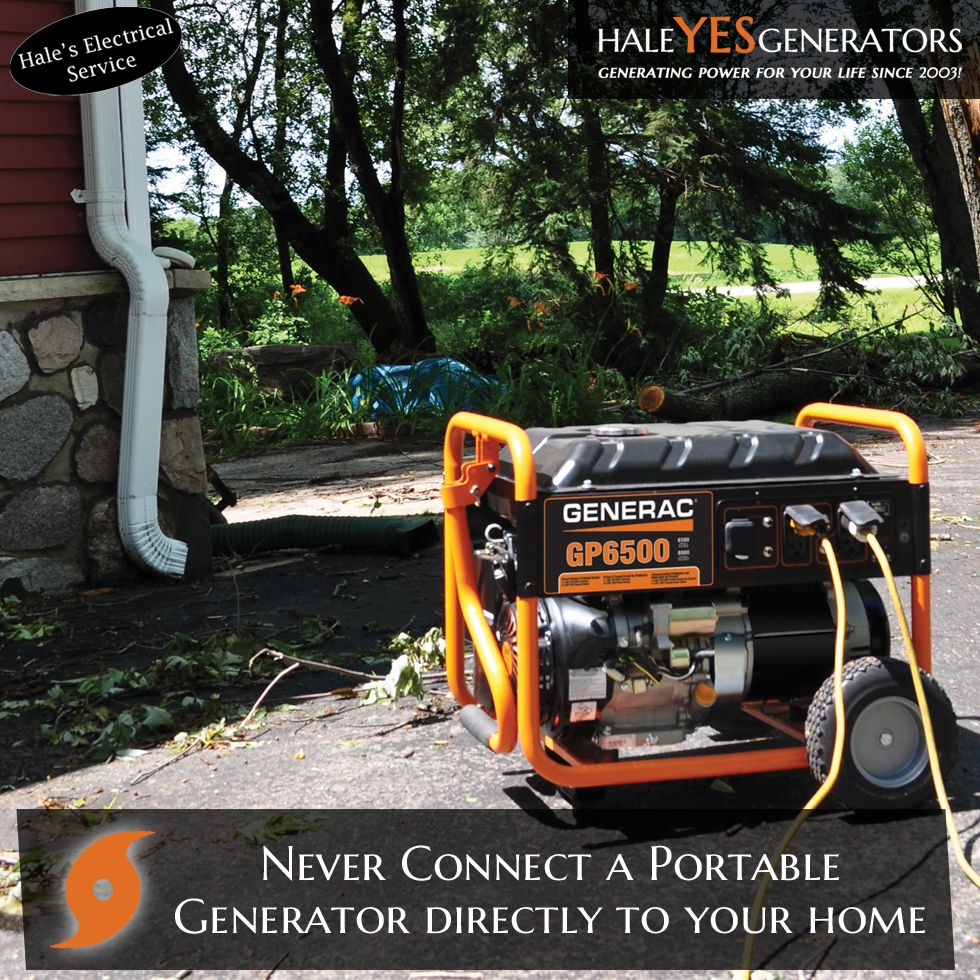 Connecting a portable generator directly to your household