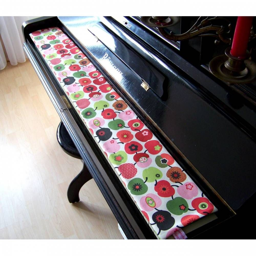 Tastenläufer für Klavier Keyboard Piano Red Apple Längenwahl x Breite 15,5 cm… – artistalista