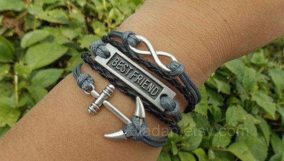 Anchor bracelets best friend bracelets unlimited by jewellrydesign, $10.29