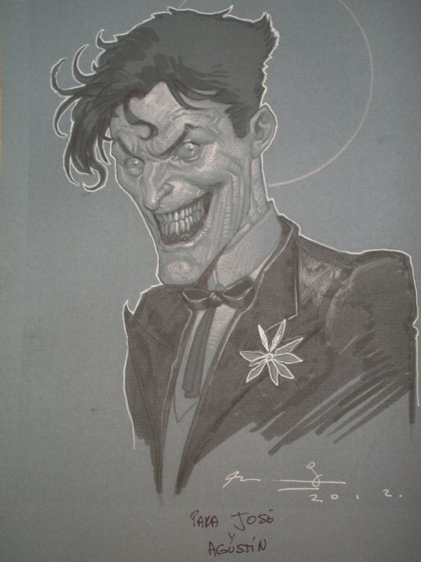 Ariel Olivetti-The Joker Comic Art