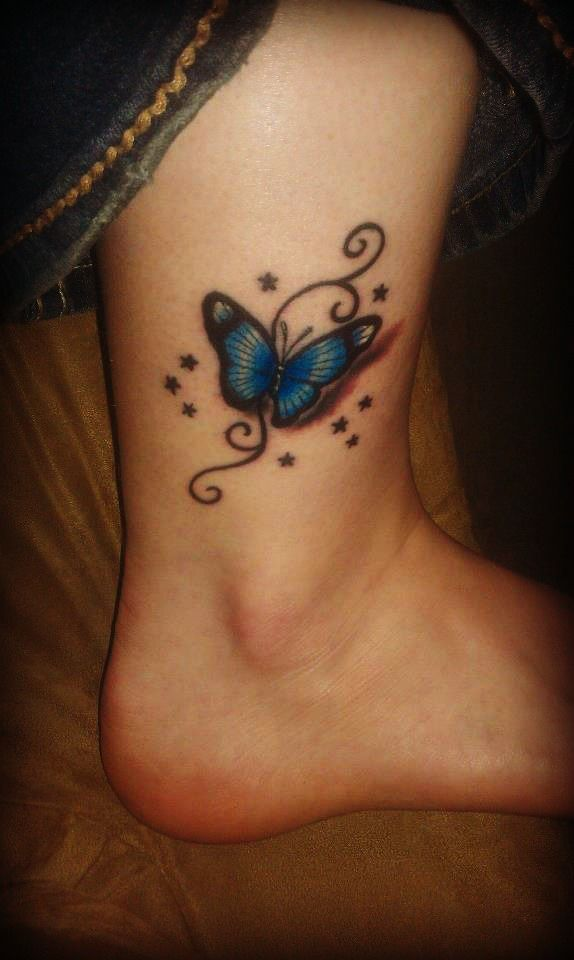 Butterfly Tattoo Butterfly Ankle Tattoos Butterfly Tattoo Purple Butterfly Tattoo