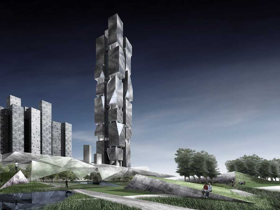 Cluster Complex, Dubai, Architects Denton Corker Marshall