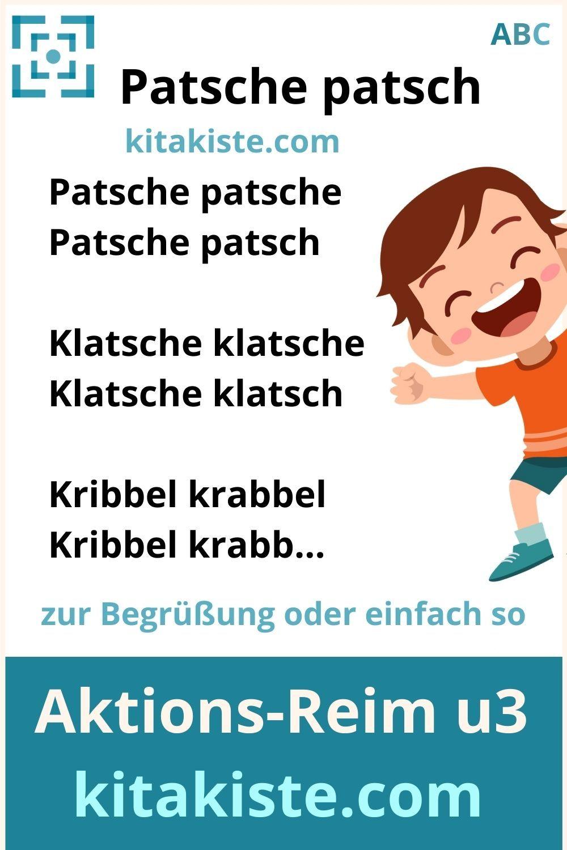 Patsche patsch - AKTIONS-REIM #u3 in 2020 | Reime, Turnen